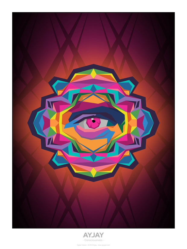 Consciousness - Psychedelic Art Print - Ayjay Art