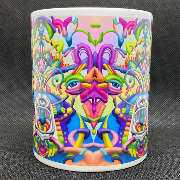 Drift Away - Psychedelic Art Mug - Ayjay Art