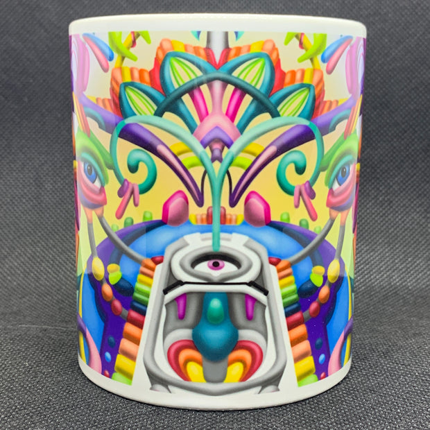 Drift Away 2.0 - Psychedelic Art Mug - Ayjay Art