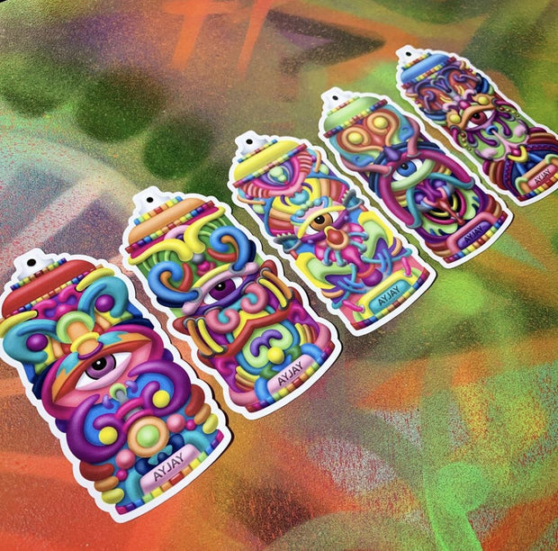 Galacticans - Psychedelic Sticker Pack - Ayjay Art