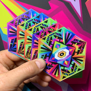 Esoteric - Psychedelic Art Coasters (4 Pack) - Ayjay Art