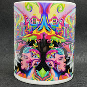 Intellectual Utopia - Psychedelic Art Mug - Ayjay Art