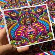 Labyrinth - Psychedelic Art Sticker - Ayjay Art