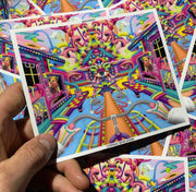 Lysergic Revelation - Psychedelic Art Sticker - Ayjay Art