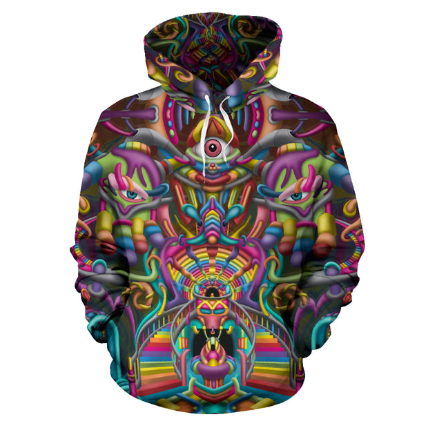 Psychedelic DMT art Hoodie by Ayjay