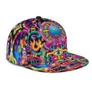 Psychedelic DMT art snapback Hat by Ayjay