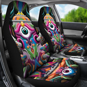 Psychedelic DMT art Car seat covers by Ayjay