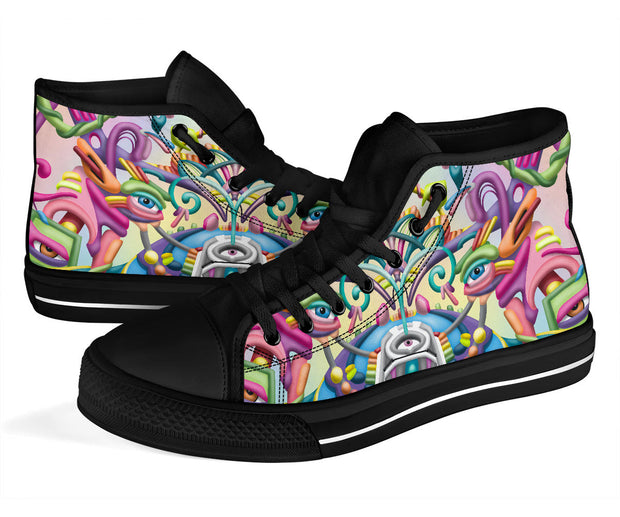 Drift Away Psychedelic Art hightop shoes by Ayjay