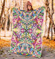 Psychedelic DMT art Blanket by Ayjay