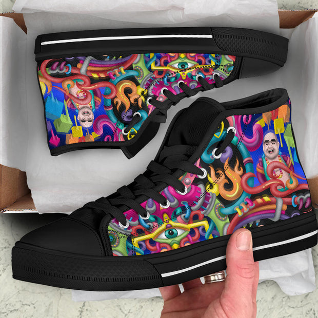Spirit Molecule Psychedelic Art hightop shoes by Ayjay