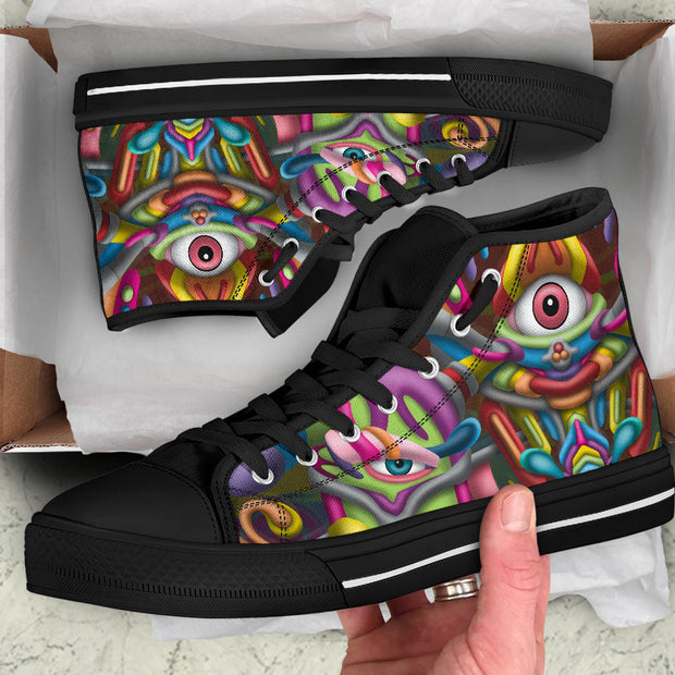 DMT Psychedelic Art hightop shoes by Ayjay