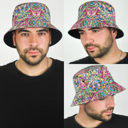 Psychedelic DMT art Bucket Hat by Ayjay