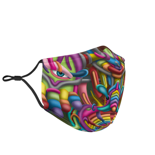 DMT Psychedelic Face Mask by Ayjay