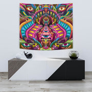 Psychedelic DMT art wall tapestry by Ayjay