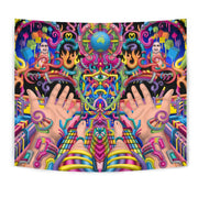 Psychedelic DMT wall art tapestry by Ayjay