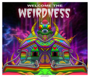 Welcome the Weirdness  - Psychedelic Art Sticker - Ayjay Art