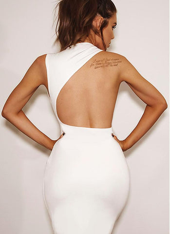 Hali Bodycon Dress-White Dresses Warehouse S