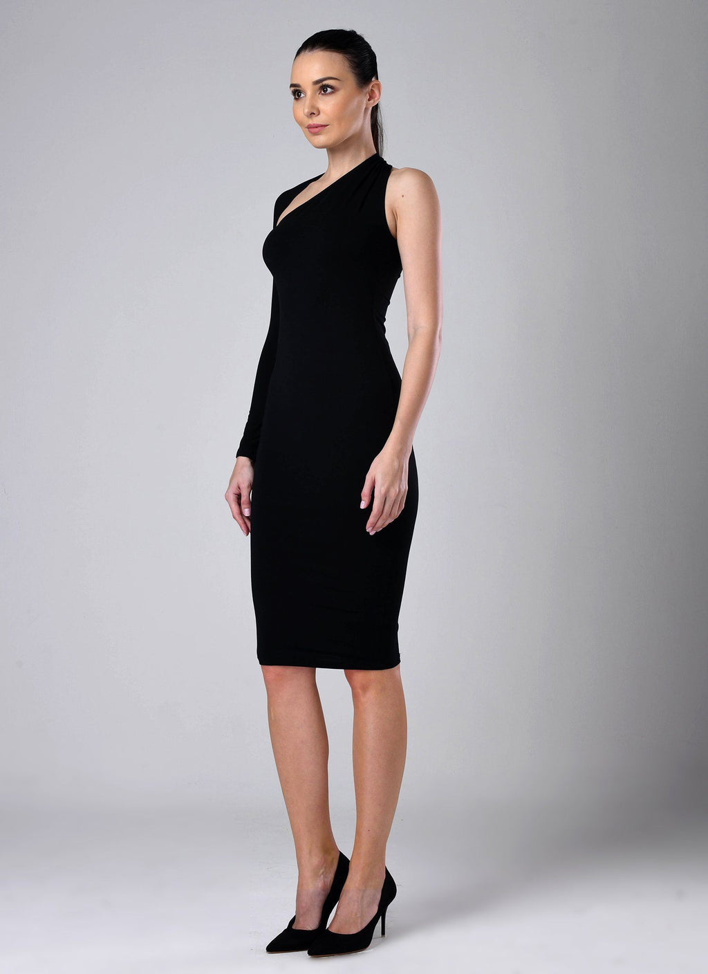 Dasha Modern Dress- Black Dresses Warehouse