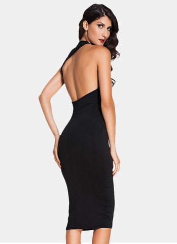 Hali Bodycon Dress-Black Posh Fashion Girls
