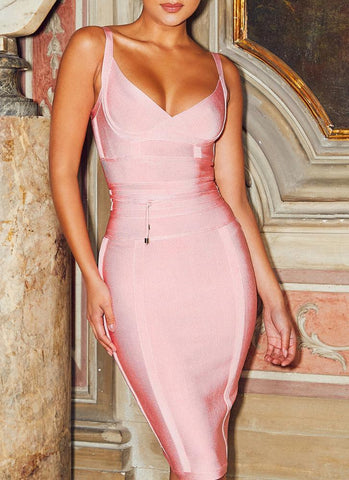 Lisa Bodycon Bandage Dress- Pink Dresses ADYCE Official Store S
