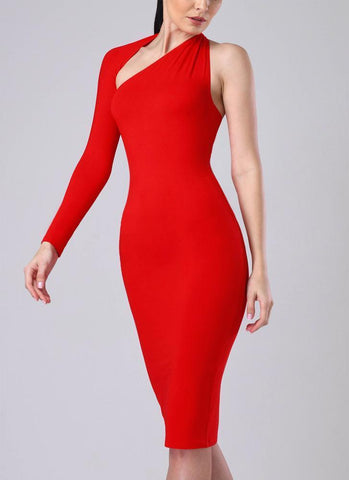 Dasha Modern Dress- Red Dresses Warehouse