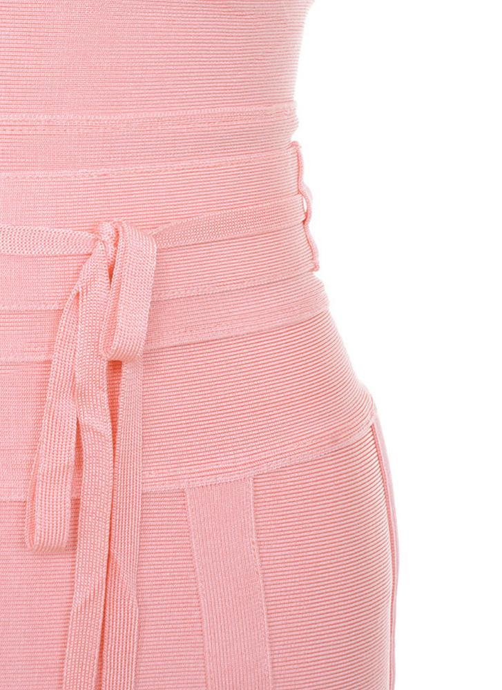 Lisa Bodycon Bandage Dress- Pink Dresses ADYCE Official Store