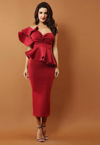 Gia Elegance Set- Maroon Dresses ADYCE Official Store