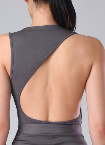 Olinda Backless Dress- Grey Dresses Warehouse