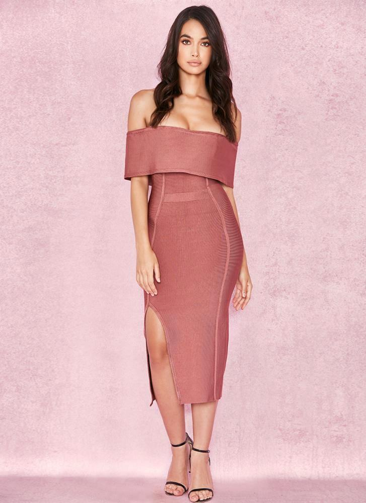 Miel Bandage Dress- Pink ADYCE Official Store
