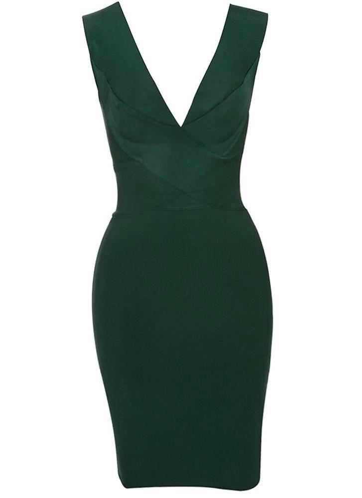 Alexis Cross Front Bandage Dress- Emerald Green Dresses Sexy LuLu Store