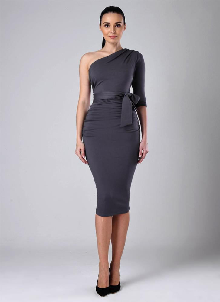 Dolly Elegant Bodycon Dress-Gray Dresses NATTEMAID Store