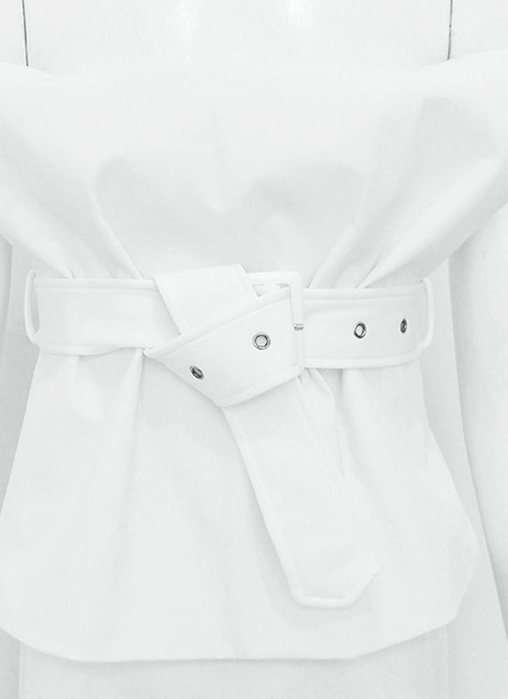 Jax Lux Matching Set with belt- White 1688