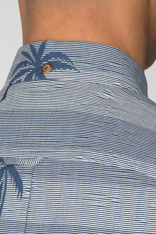 Ben Sherman Tropics S/S Shirt in Navy