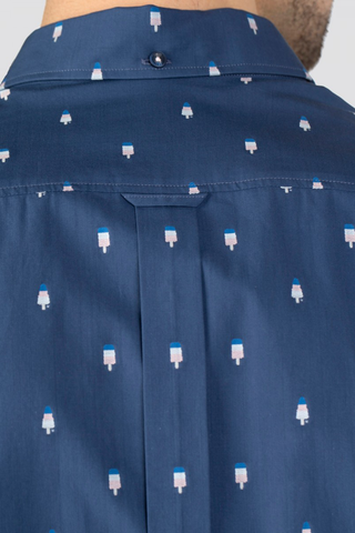 Ben Sherman Popsicle L/S Shirt in Blue