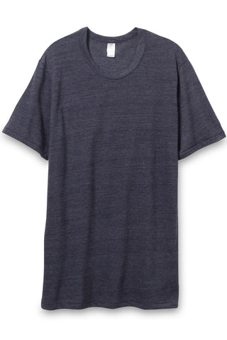 Alternative Eco Heather Crew Tee in True Navy