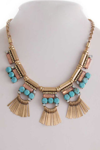 Marishka Necklace in Turquoise