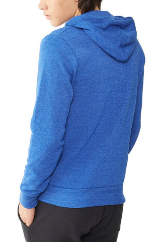 Alternative Eco Fleece Zip Hoodie in True Pacific Blue
