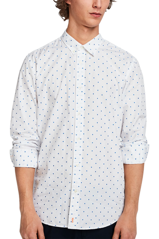 Scotch & Soda Bomb Dot Com L/S in White