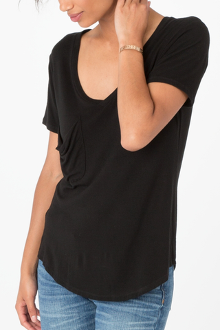 Z Supply Sleek Pocket Tee in Black