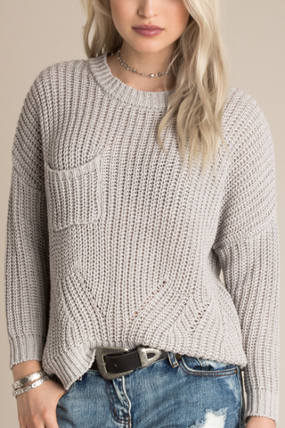 White Crow Abby Sweater in Ash
