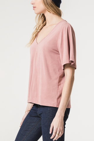Z Supply Willow Top in Blush