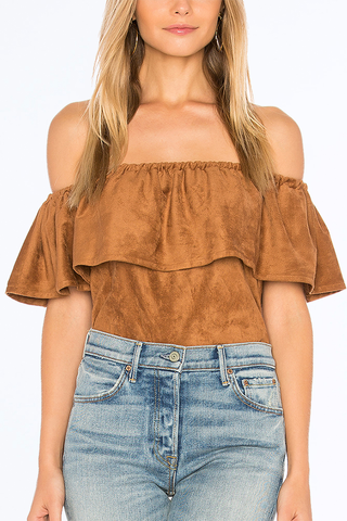 Cupcakes and Cashmere Deepest Wish Top in Camel