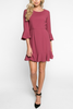 Justine Dress in Wine