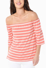 BB Dakota Adeline Stripe Top in Melon