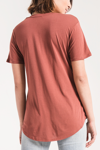 Z Supply Sleek Pocket Tee in Ember