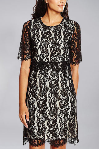 Darling UK Embraced Lace Dress in Black