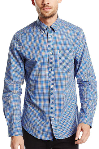 Ben Sherman Sharp Suitor L/S Shirt in Blue