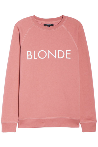 Brunette The Label Blondes Rule! Sweater in Rose