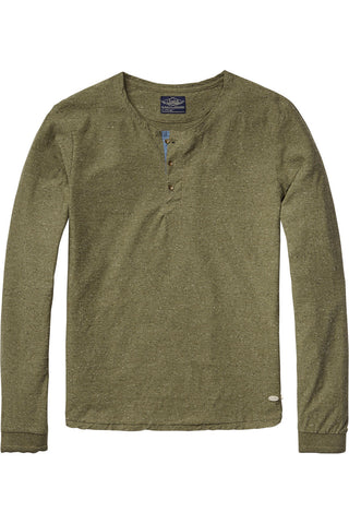 Scotch & Soda Someone New L/S Shirt In Olive