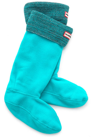 Hunter Mouline Knit Boot Socks in Tourmaline Green